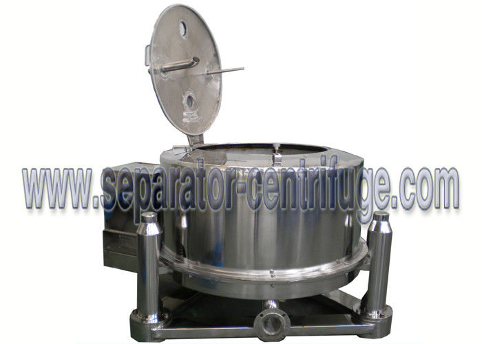 Stainless Steel Batch Top Discharge Basket Centrifuge , Industrial Centrifuge Machine